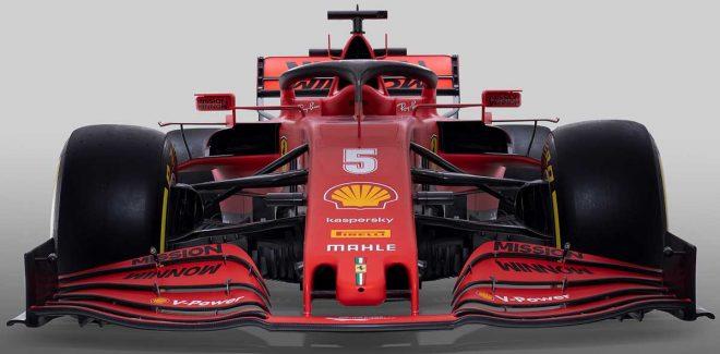 スクーデリア・フェラーリの2020年型F1マシン『SF1000』フロントビュー