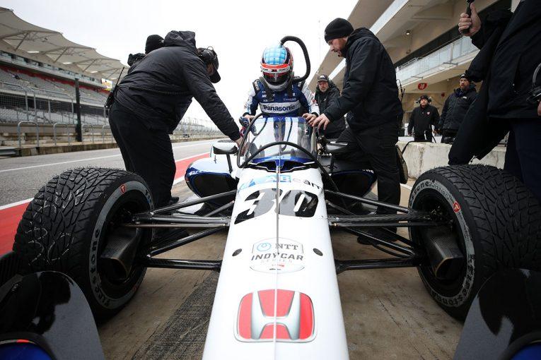 海外レース他   インディカー合同テストがCOTAでスタート。初日は天候不良で走行中止に