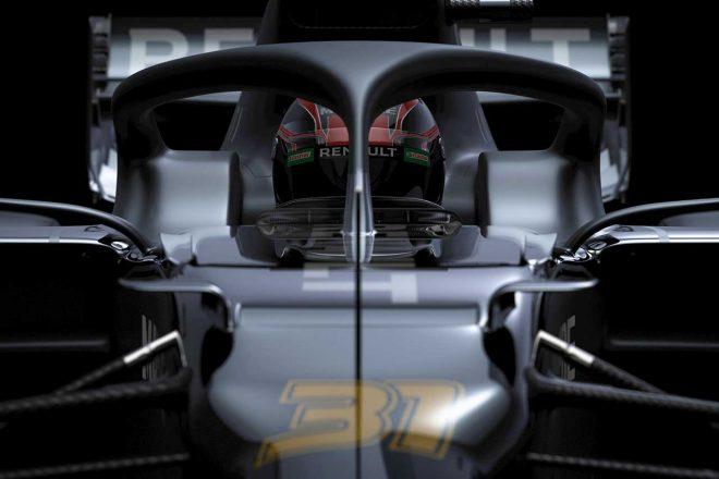 ルノーF1が公開した2020年型マシン『R.S.20』のイメージ画像。マシン全体ではなく細部カットだけの公開となった