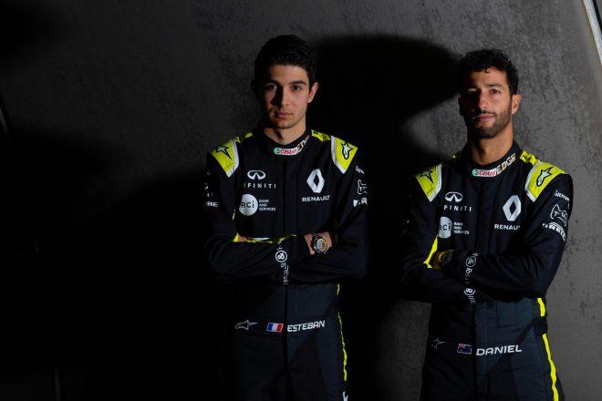 ルノーF1チームの2020年ドライバーラインアップ、ダニエル・リカルドとエステバン・オコン