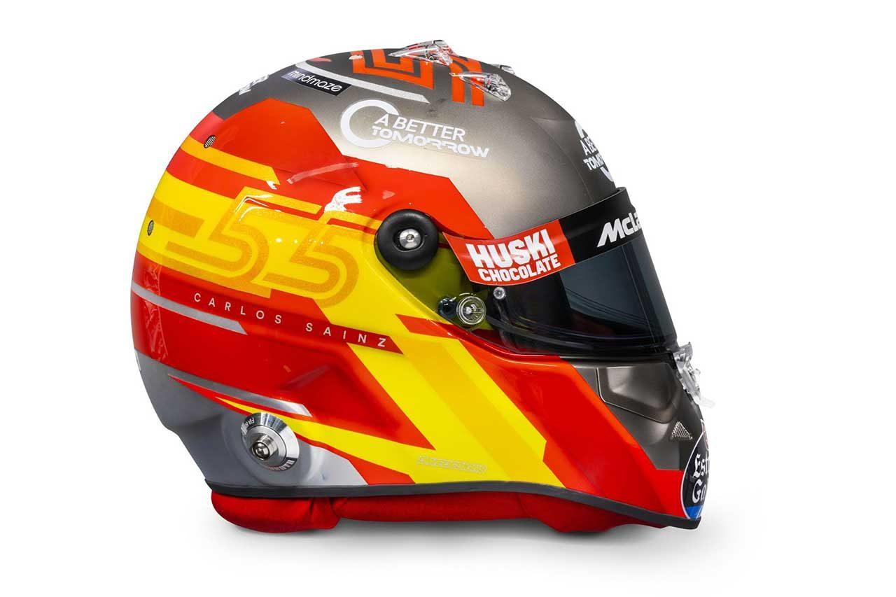 カルロス・サインツJr.の2020年仕様ヘルメット
