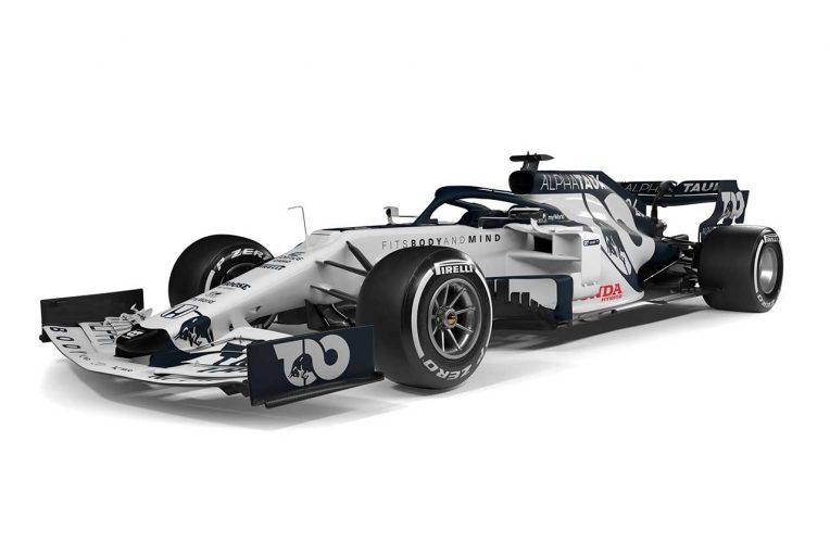 F1 | 新生アルファタウリ・ホンダF1が2020年型マシン『AT01』を初公開。ホワイト×ダークネイビーにカラーを一新