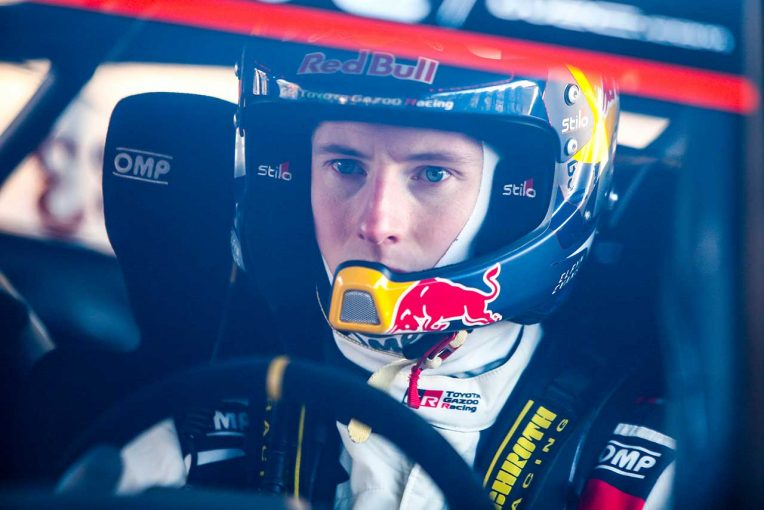 ラリー/WRC   WRC:トヨタ、第2戦スウェーデン大会2日目は全車がトップ4入り。首位エバンスは「飛ぶような速さ」