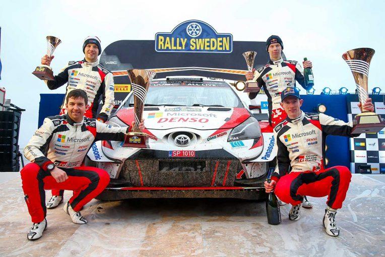 ラリー/WRC   WRC:トヨタがスウェーデン2連覇。「我々はドリームチーム。過去にないほどチームスピリットは高い」