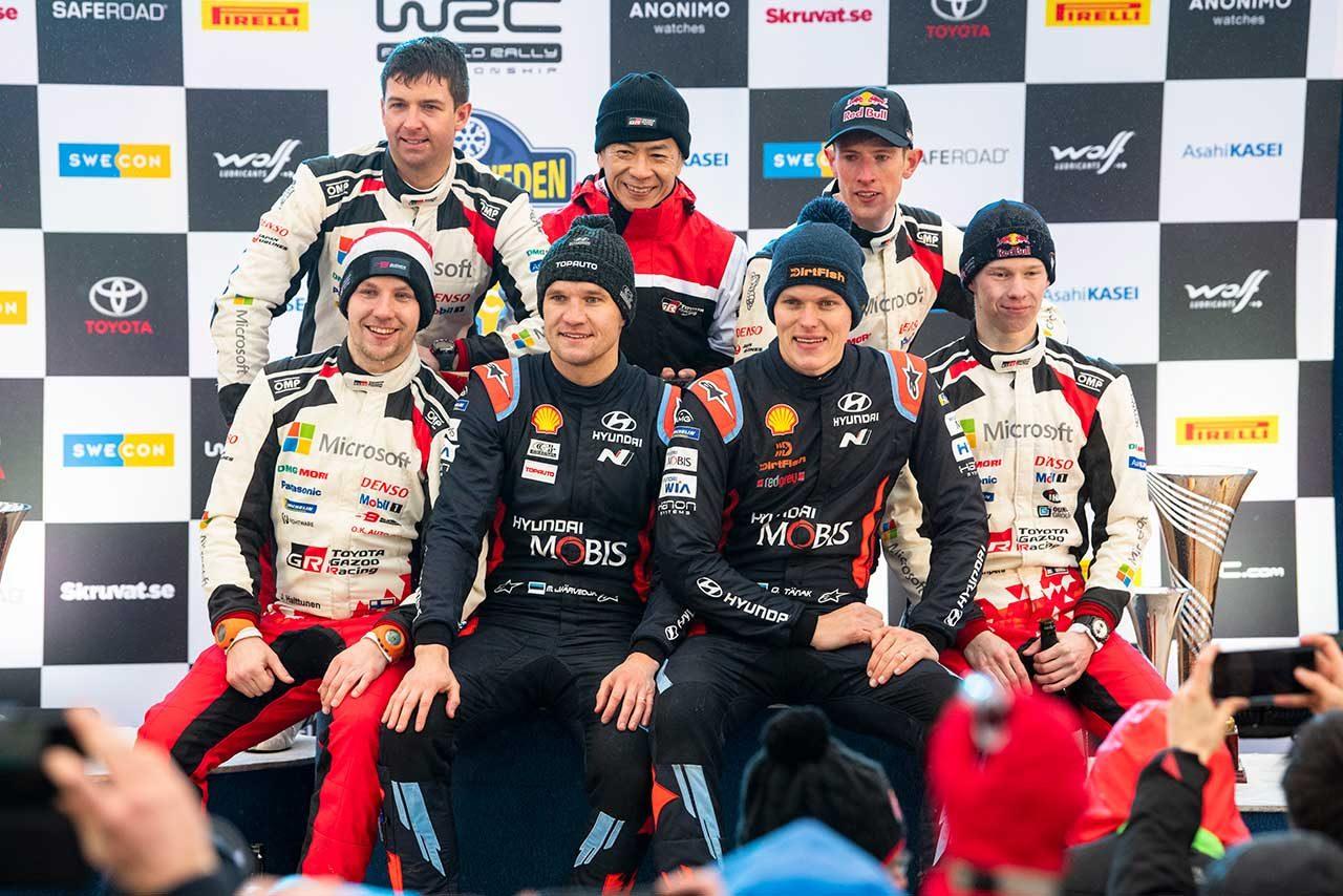 2020年WRC第2戦スウェーデン表彰台