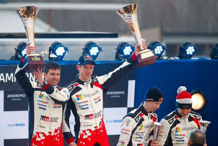 ラリー/WRC   トヨタに2020年初優勝もたらしたエバンス「加入2戦目で勝つことができ本当にうれしい」/2020WRC第2戦スウェーデン デイ3後コメント