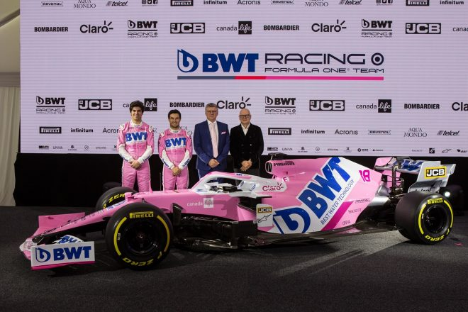 レーシングポイントF1チームが、2020年型マシン『RP20』のカラーリングを披露