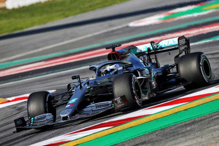 F1 | 【第1回F1バルセロナテスト初日午前タイム結果】フェルスタッペンが91周を走り3番手、首位はボッタス
