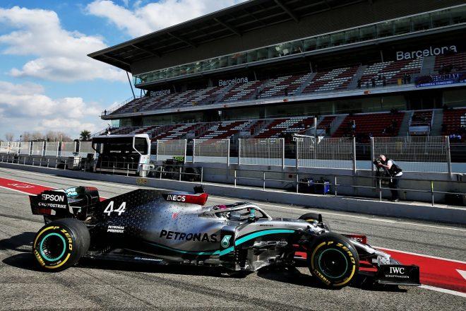2020年第1回F1プレシーズンテスト1日目:ルイス・ハミルトン(メルセデス)