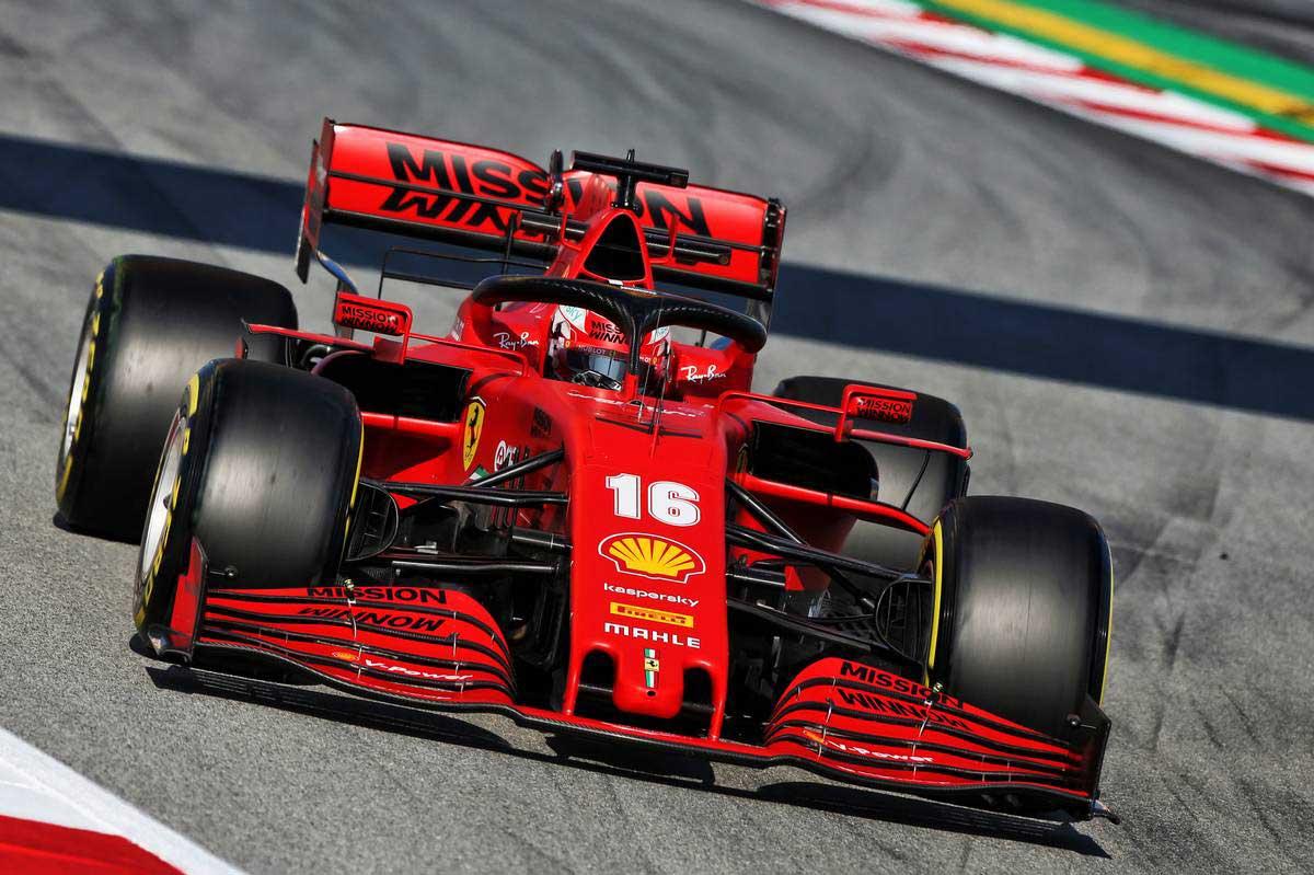 2020年F1第1回バルセロナテスト2日目 シャルル・ルクレール(フェラーリ)