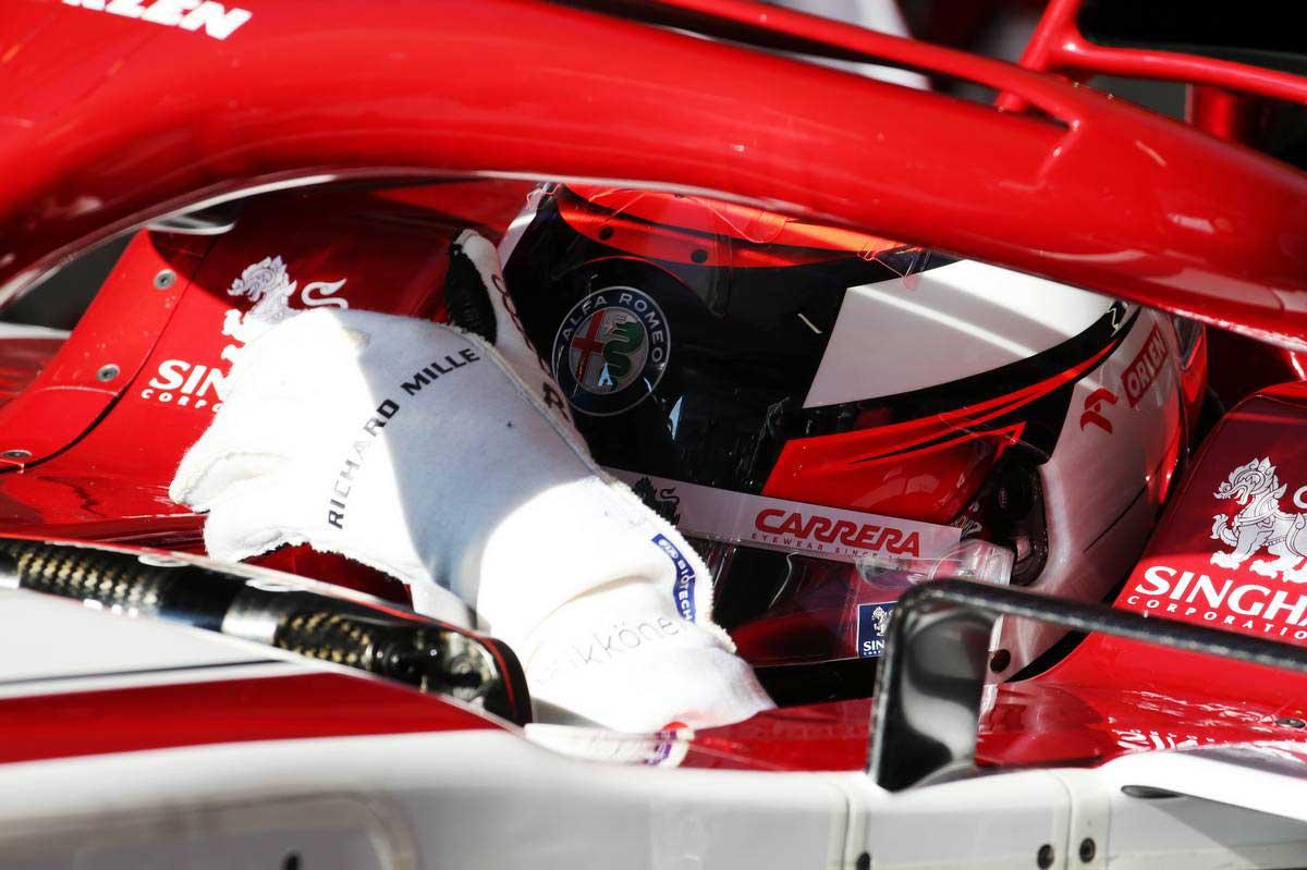 2020年F1第1回バルセロナテスト2日目 キミ・ライコネン(アルファロメオ)