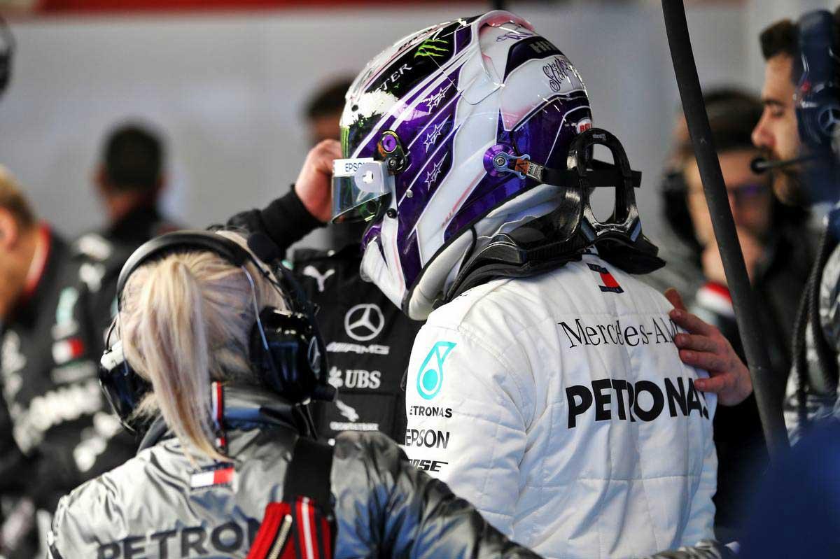 2020年F1第1回バルセロナテスト2日目 ルイス・ハミルトン(メルセデス)