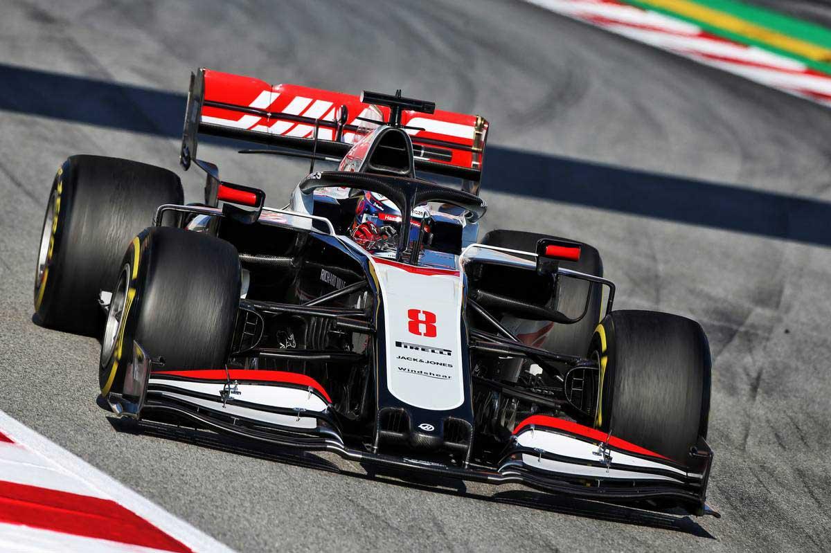 2020年F1第1回バルセロナテスト2日目 ロマン・グロージャン(ハース)