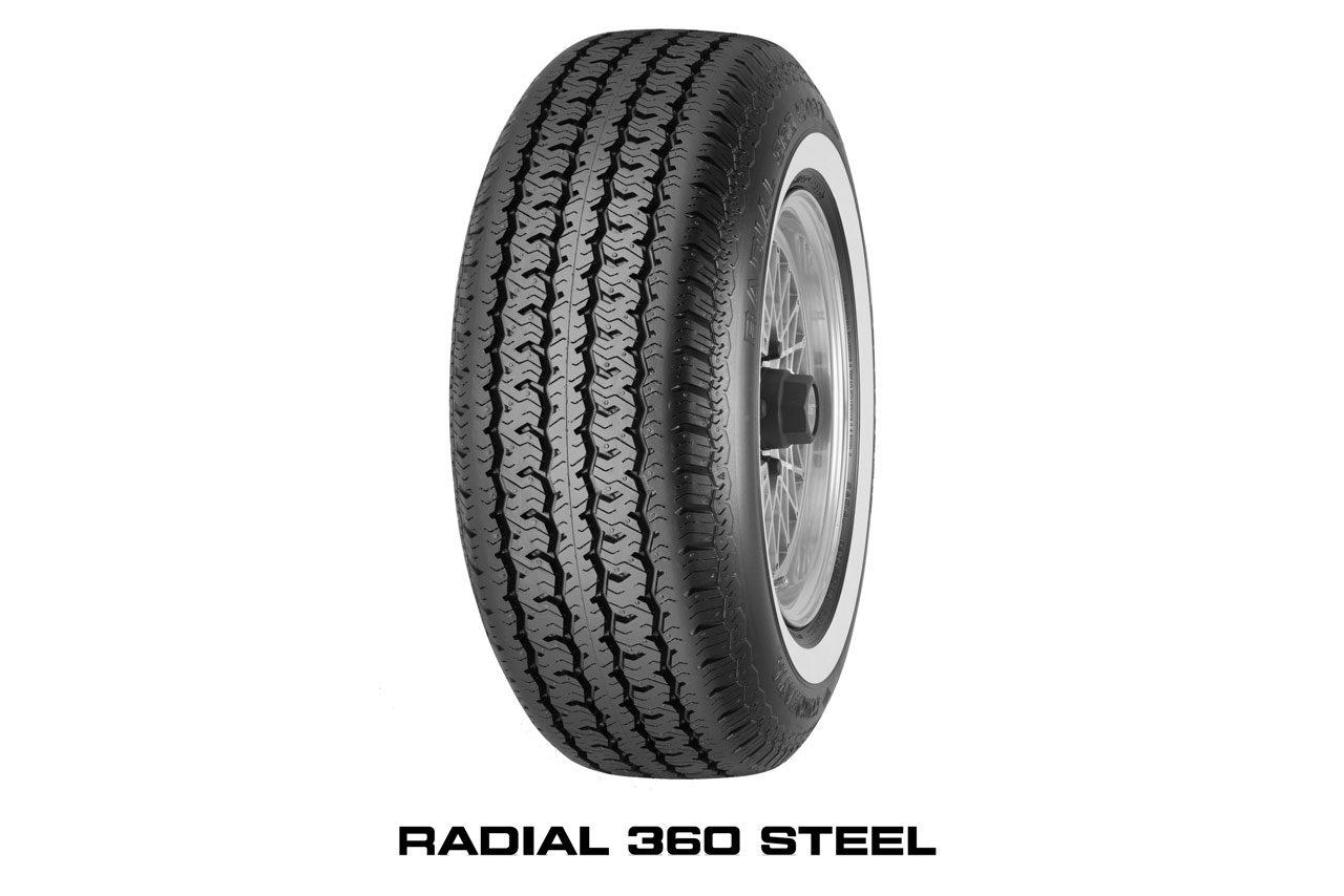 横浜ゴム、ヒストリックカー向けホワイトリボンタイヤ『RADIAL 360 STEEL』を国内投入