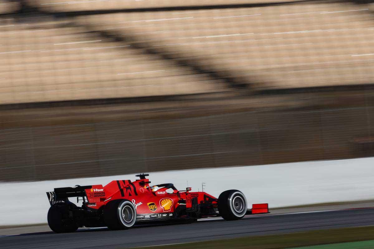 2020年F1第1回バルセロナテスト3日目 セバスチャン・ベッテル(フェラーリ)