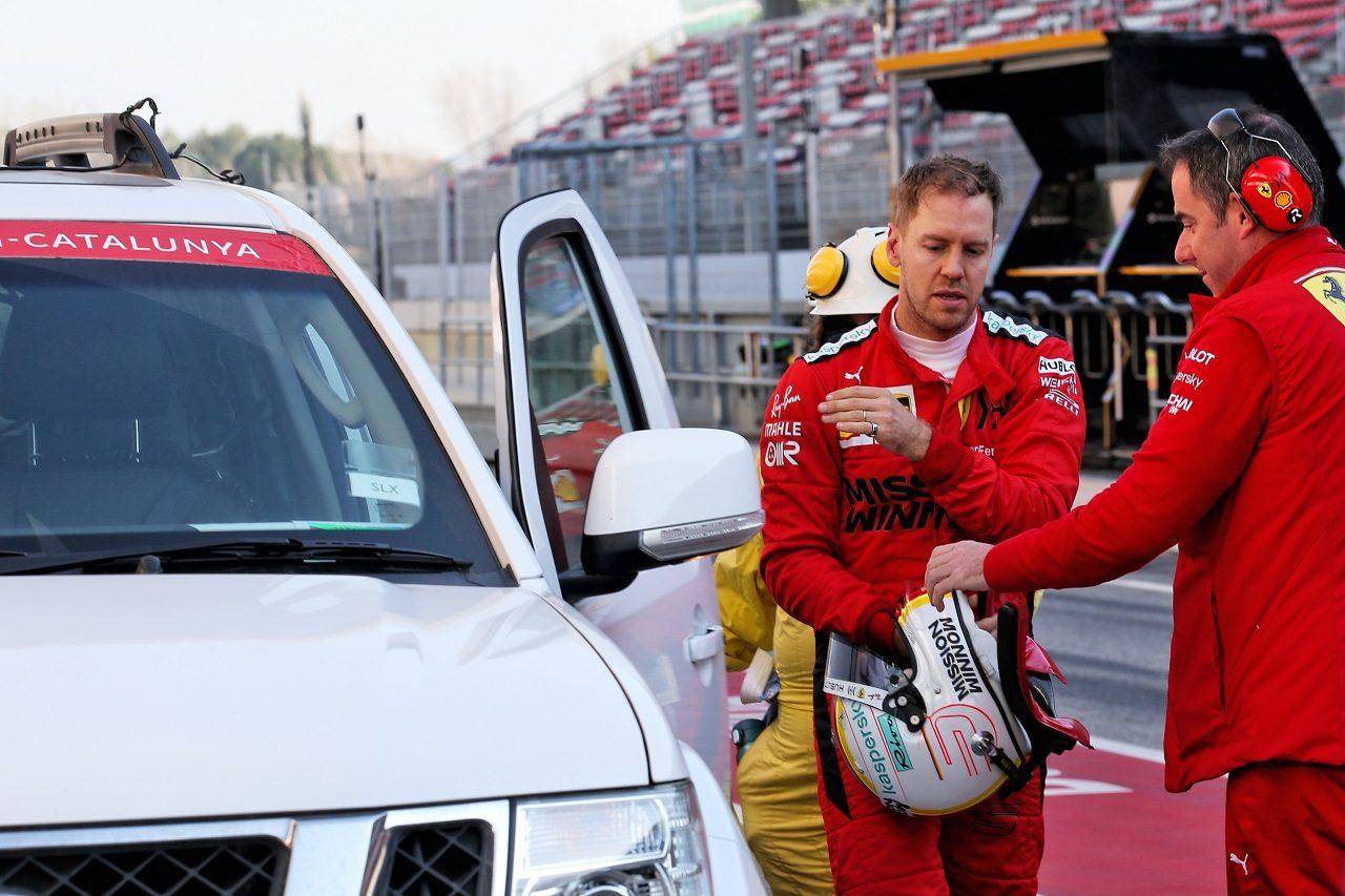 2020年第1回F1プレシーズンテスト3日目:セバスチャン・ベッテル(フェラーリ)がトラブルでストップ