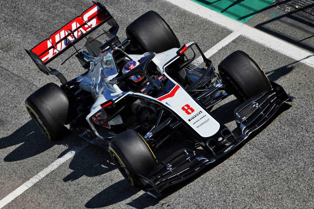 2020年F1第1回バルセロナテスト3日目 ロマン・グロージャン(ハース)
