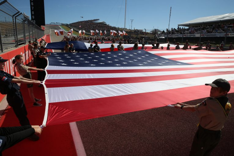 F1   マイアミGPプロジェクトの遅延にF1ボスが苛立ち「5年から10年」かけたアメリカでの地盤作りを覚悟