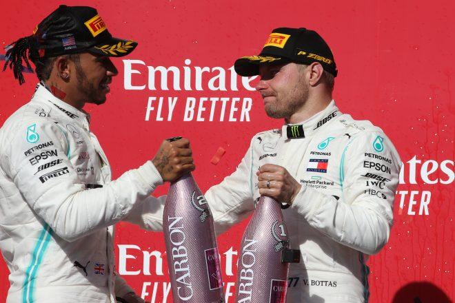 2019年F1アメリカGPでのハミルトンとボッタス