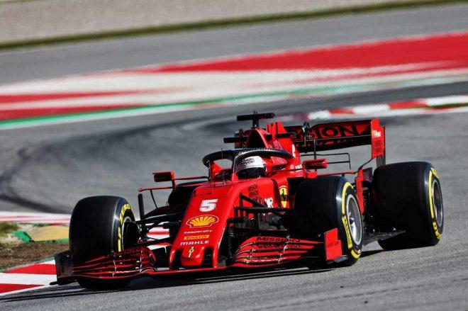 2020年F1第2回バルセロナテスト1日目 セバスチャン・ベッテル(フェラーリ)