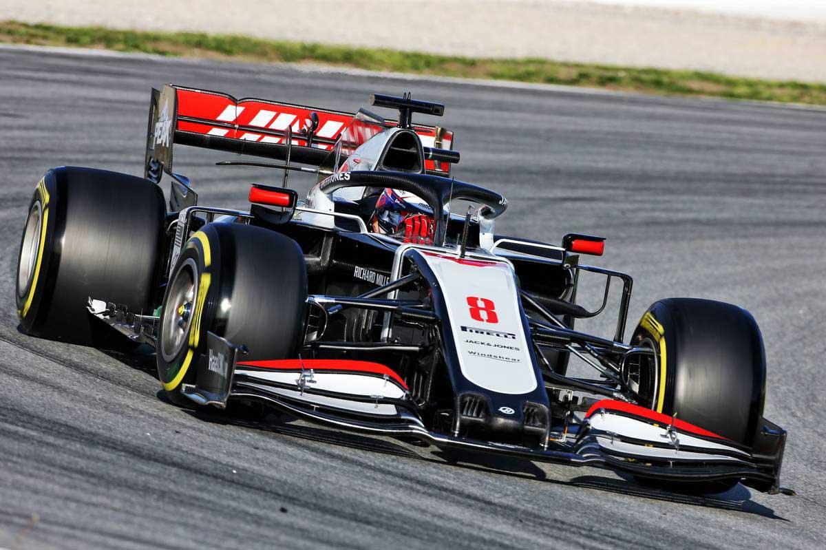 2020年F1第2回バルセロナテスト1日目 ロマン・グロージャン(ハース)