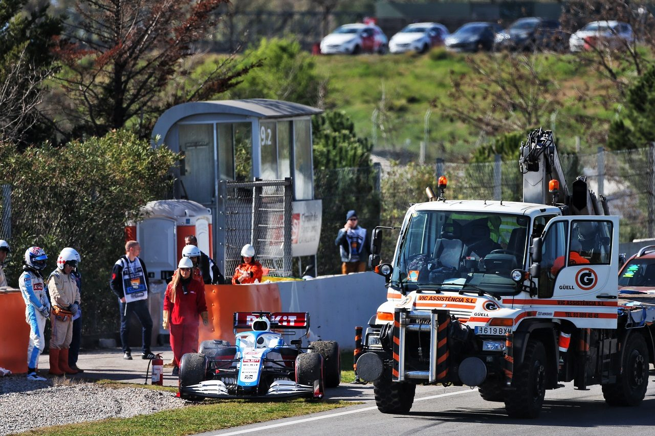 2020年第2回F1プレシーズンテスト1日目:ニコラス・ラティフィ(ウイリアムズ)がトラブルでストップ