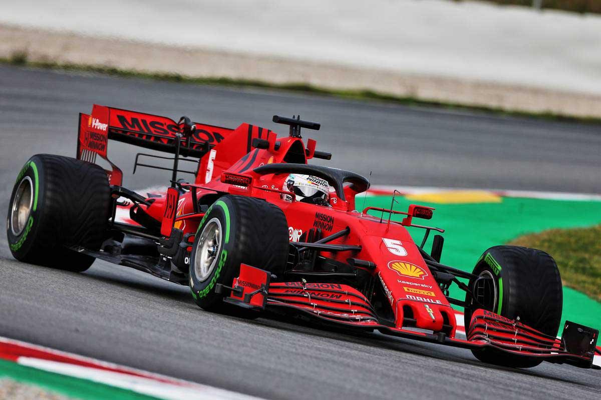 2020年F1第2回バルセロナテスト2日目 セバスチャン・ベッテル(フェラーリ)