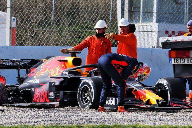F1 | レッドブル・ホンダF1のフェルスタッペン、スピンで走行中断もポジティブ「マシンもエンジンも好調」
