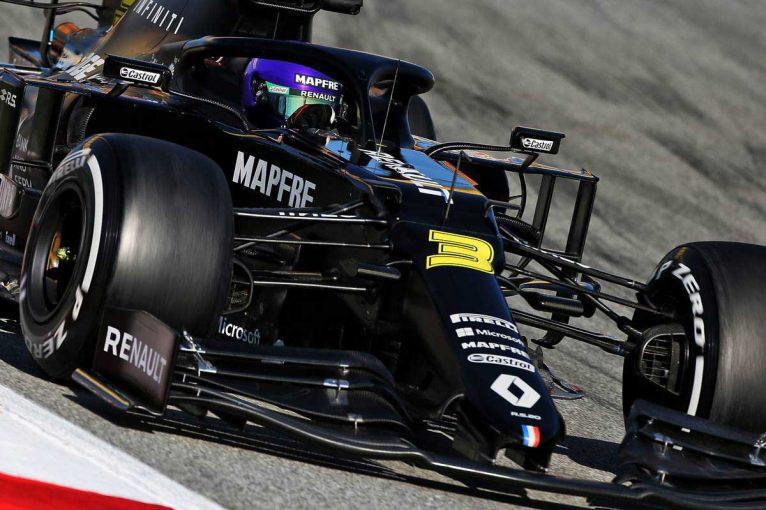 F1 | 【第2回F1バルセロナテスト3日目午前タイム結果】ルノーのリカルドが最速。ホンダ勢はクビアト7番手、アルボン10番手