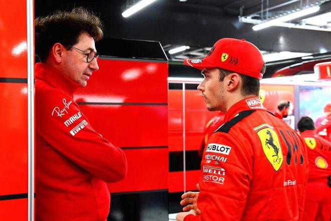 2020年F1第1回バルセロナテスト2日目 マッティア・ビノット代表&シャルル・ルクレール(フェラーリ)