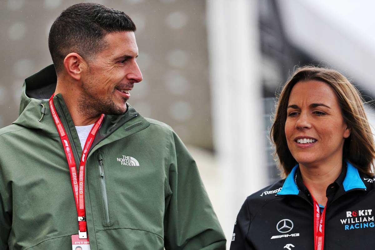 2019年F1第20戦ブラジルGP クレア・ウイリアムズ副代表と夫のマーク・ハリス
