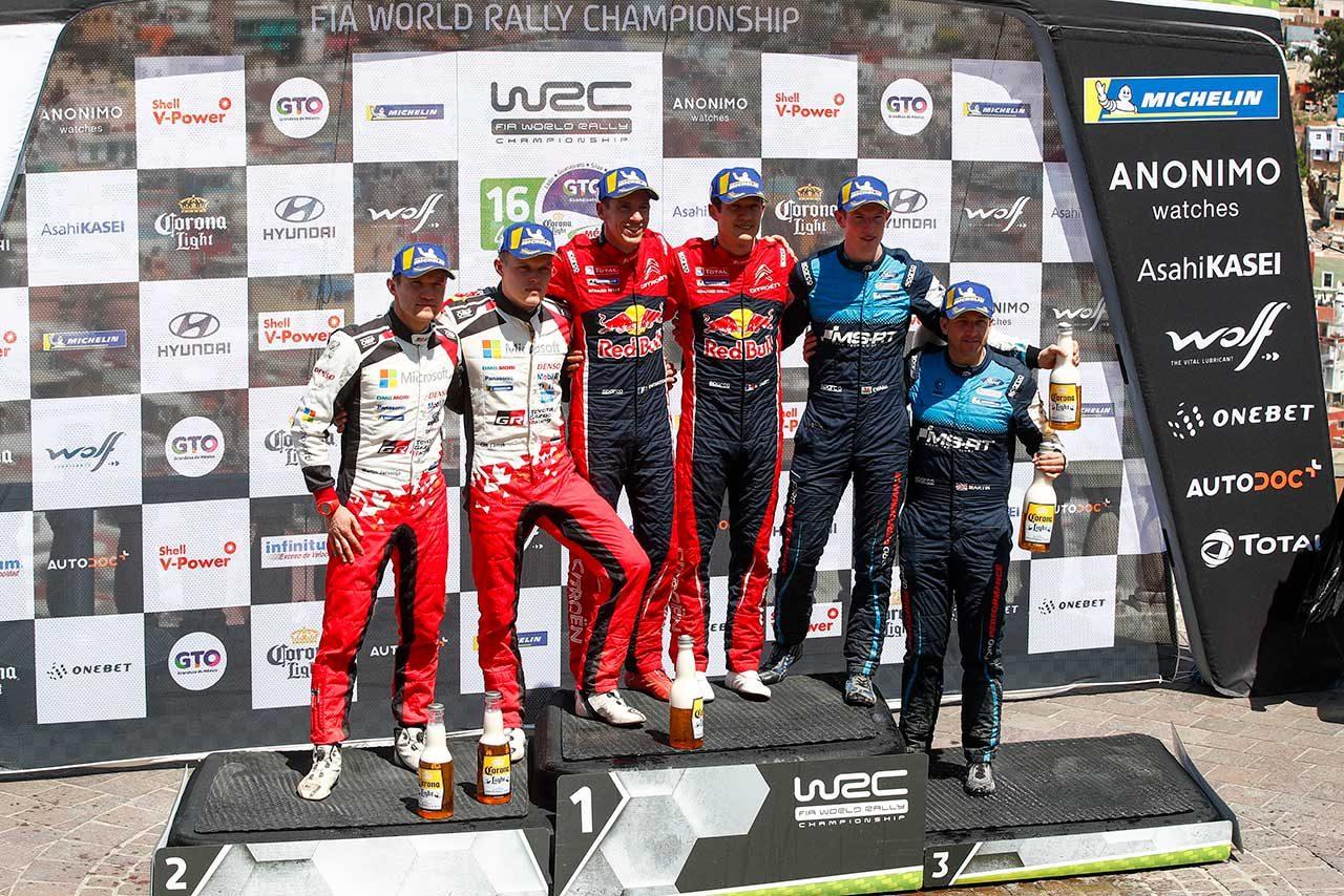 2019年のWRC第3戦メキシコ表彰台