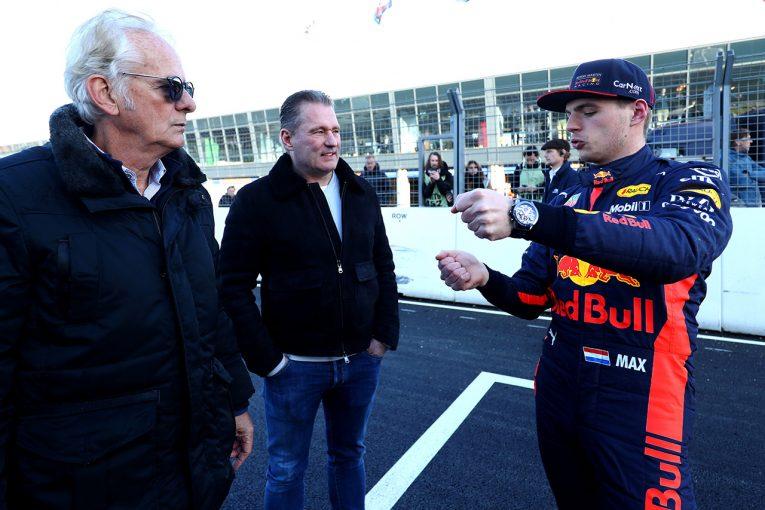 F1 | フェルスタッペン、ザントフォールト試走に大興奮「DRSを開いてバンクを走るのは大きな挑戦」