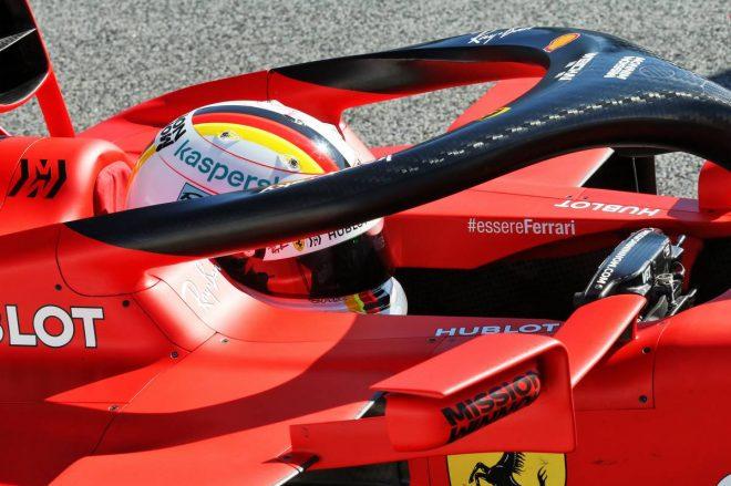 F1バルセロナテスト セバスチャン・ベッテル(フェラーリ)