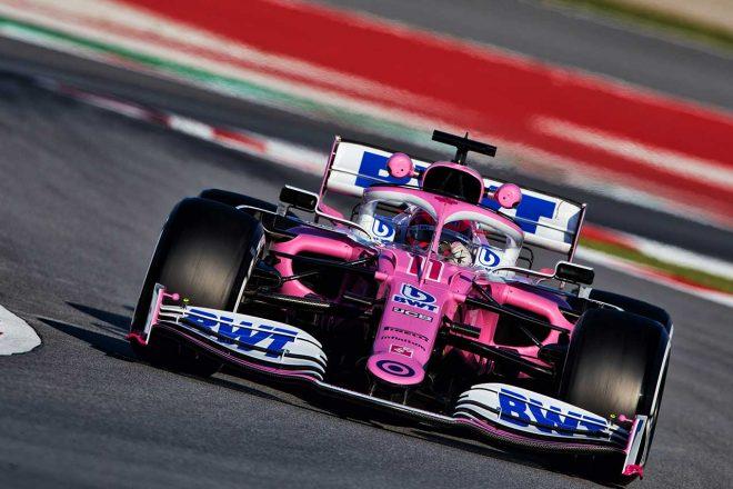 """BWTレーシングポイント『RP19』はフロントノーズの形状などが2019年のメルセデスF1と酷似していることから""""ピンク・メルセデス""""とも表現される"""