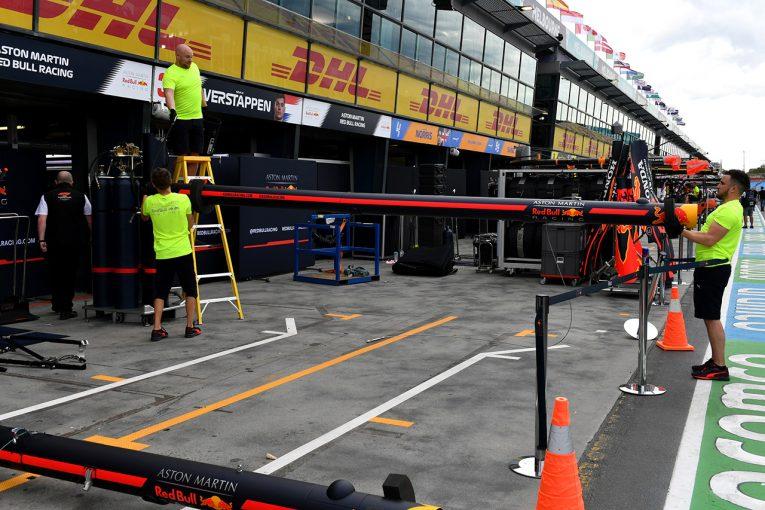 F1 | 【ギャラリー】F1オーストラリアGPの開催中止を受け、アルバート・パークでは撤収作業が進む