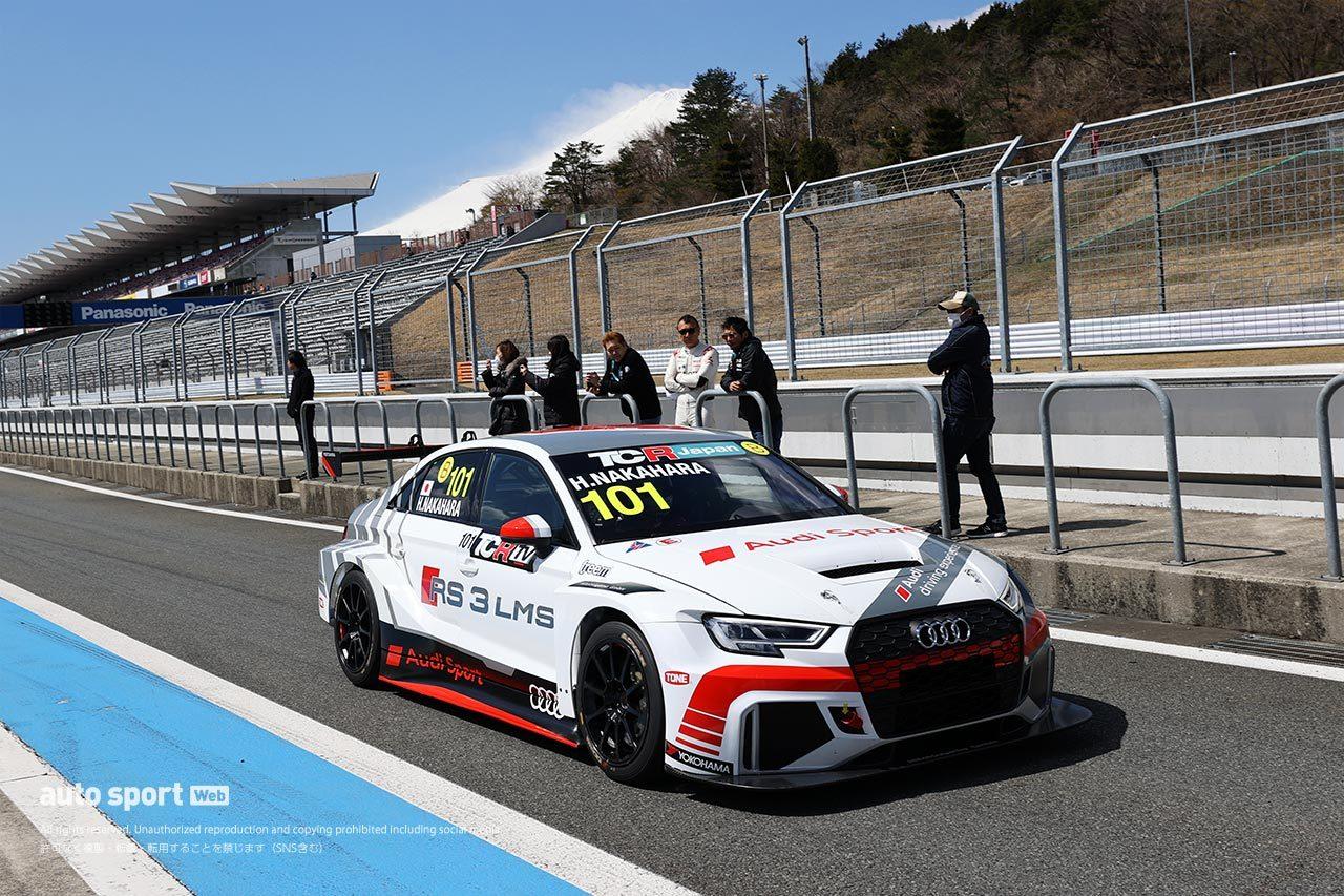 TCRジャパンシリーズ合同テストは12台が参加。2年目の篠原拓朗が2セッションとも首位に