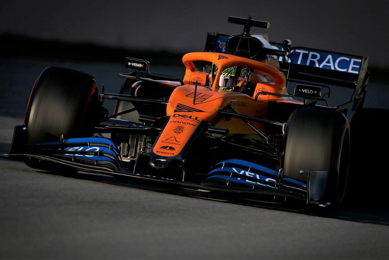 2020年F1プレシーズンテストでのランド・ノリス(マクラーレン)