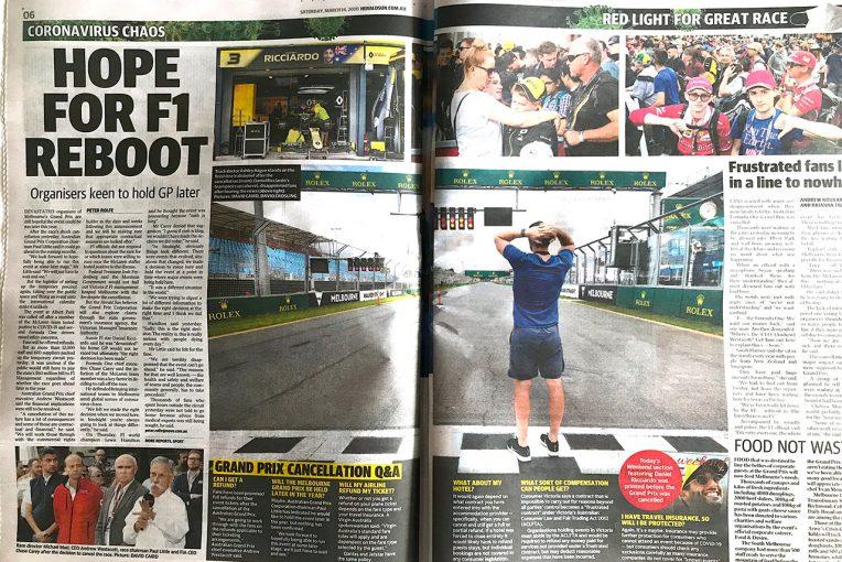 F1   F1 Topic:オーストラリアGP中止の翌日、地元紙が伝えたこと。フードロスも問題に