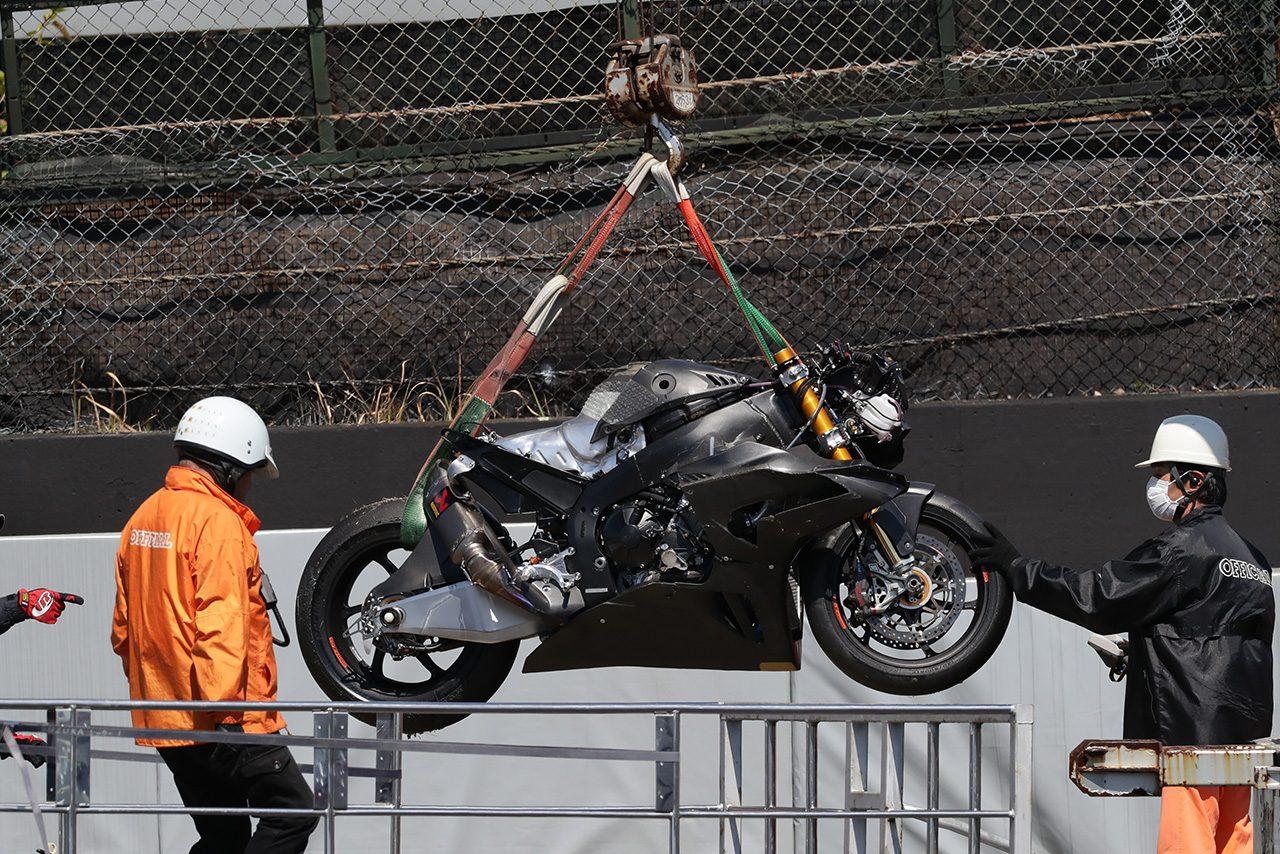 高橋巧が大クラッシュ。TEAM HRCやヨシムラも参加しヤマハ勢がリード/全日本ロード鈴鹿テスト初日