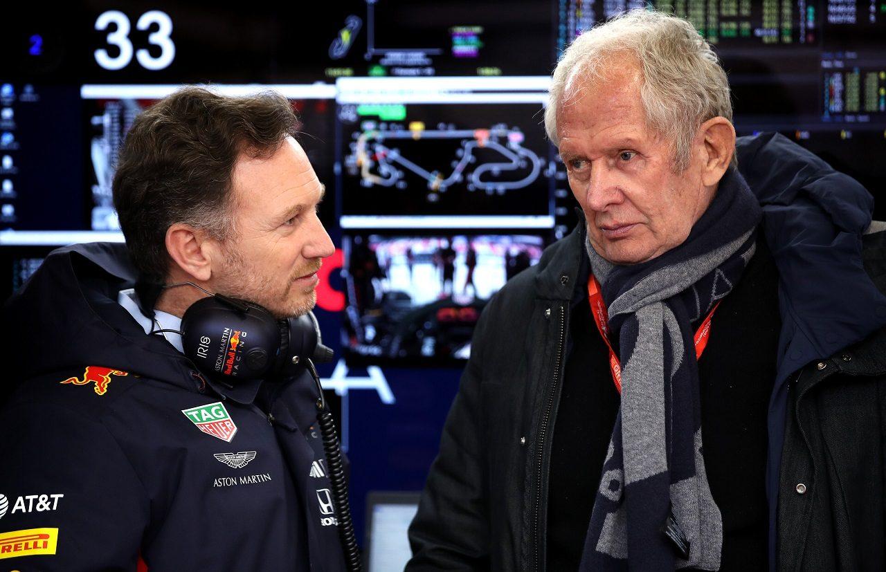 2020年F1プレシーズンテスト レッドブル代表クリスチャン・ホーナーとモータースポーツコンサルタントのヘルムート・マルコ