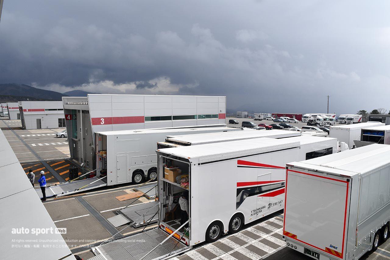 3月28〜29日のスーパーGT富士公式テストは急転直下中止が決定。行政の外出自粛要請をうけ苦渋の決断