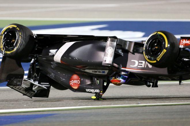 2014年F1バーレーンGP マルドナドとの接触でグティエレスのザウバーが宙を舞った
