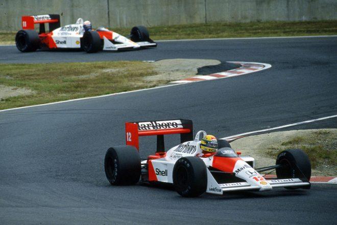 1988年F1日本GP アイルトン・セナとアラン・プロスト(マクラーレン)