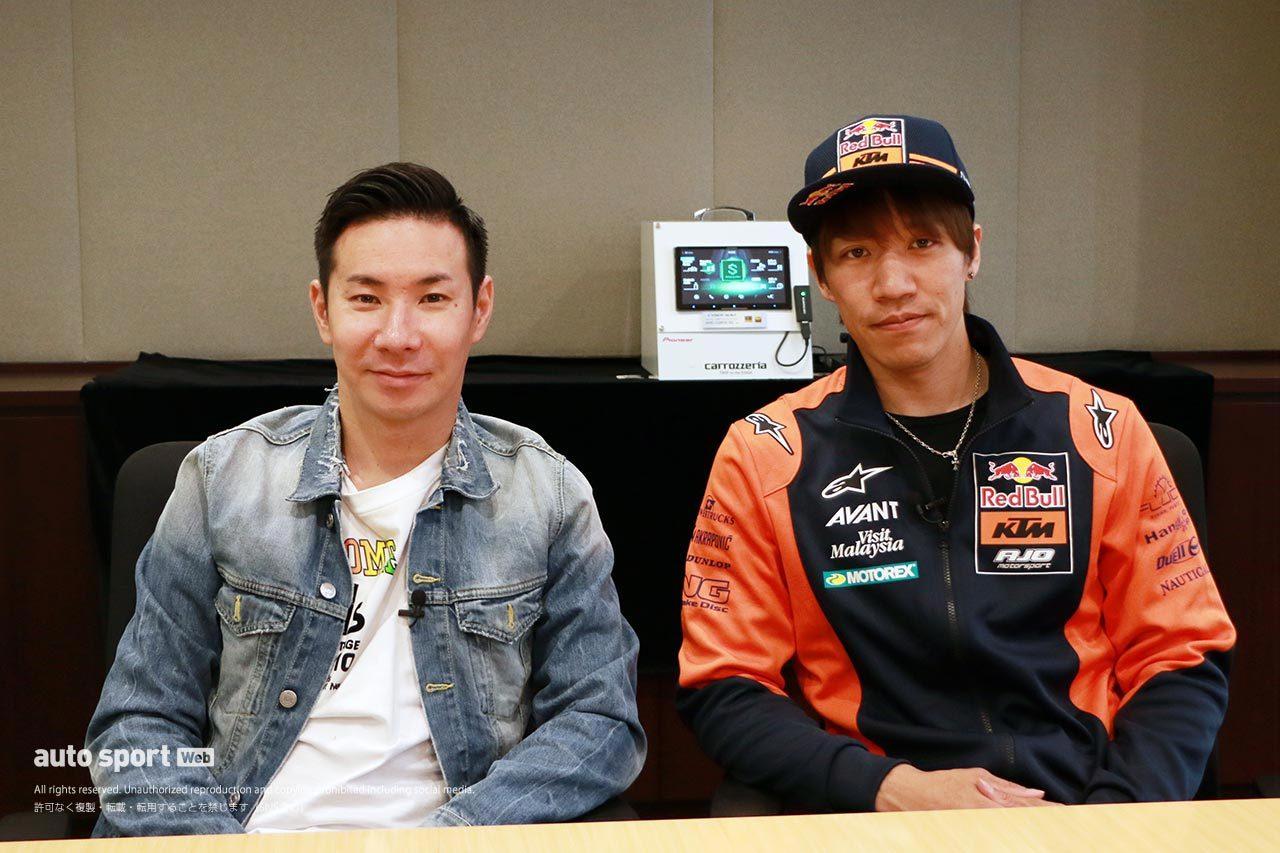 小林可夢偉(carrozzeria Team KCMG)長島哲太(Red Bull KTM Ajo)