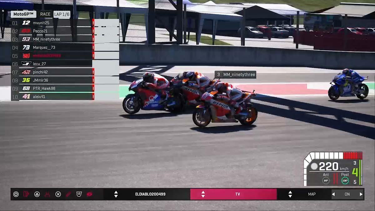 2020MotoGPバーチャルレース 第1戦イタリアGP