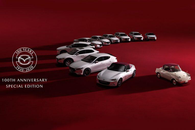 クルマ | マツダが100周年特別記念車を発表。R360クーペモチーフの白×赤2トーンやスペシャルロゴ採用