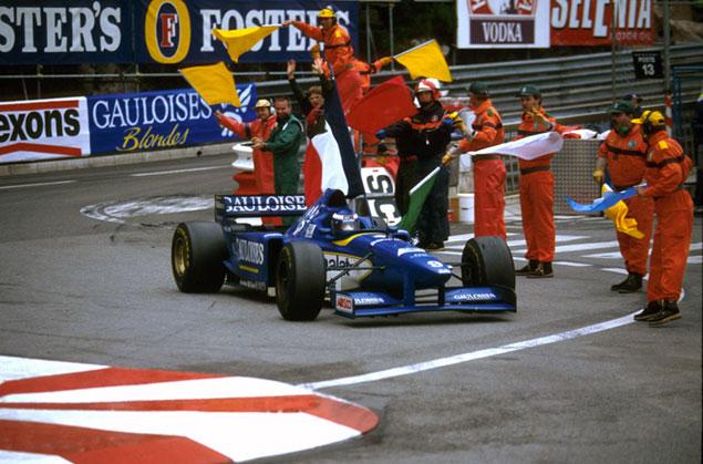F1 | 今週末のF1名レース無料配信は1996年モナコGP。フィニッシュ3台の超サバイバルレースで無限ホンダが初優勝