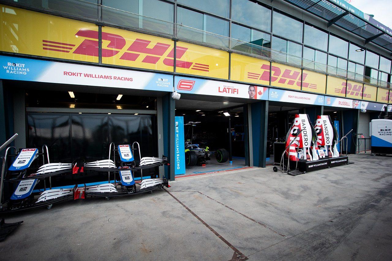 2020年F1オーストラリアGPでのウイリアムズF1のガレージ