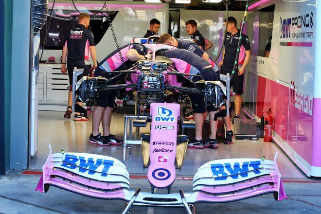 2020年F1オーストラリアGPでのレーシングポイントF1のガレージ